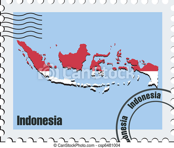 vector stamp  of Indonesia - csp6481004