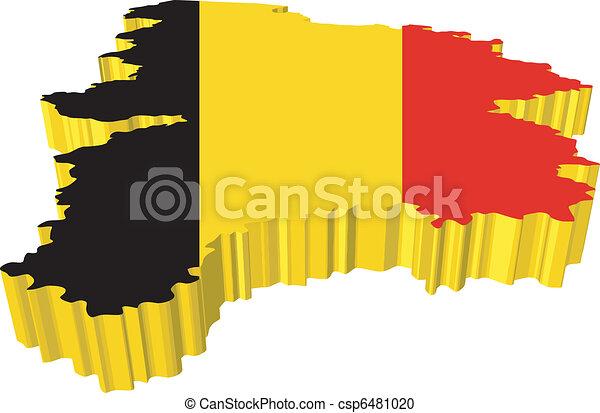 vectors 3D map of Belgium - csp6481020