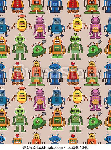 seamless robot pattern - csp6481348