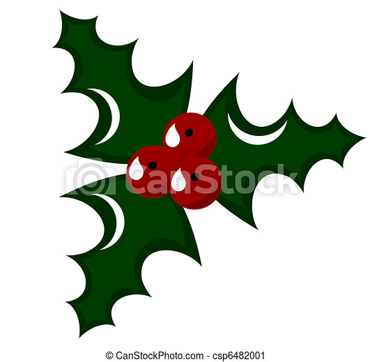 Vector Clip Art of Holly berry illustration - Holly berry - symbol of ...