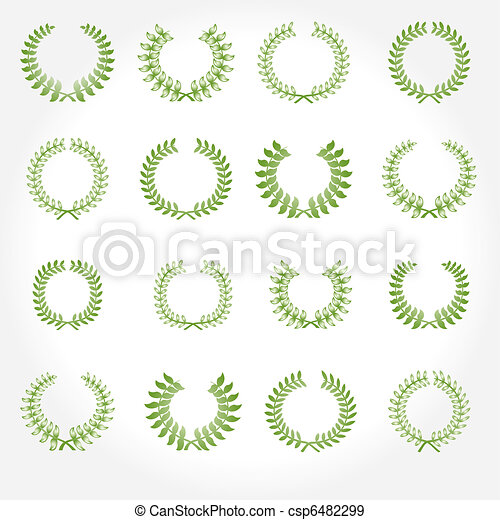 Vector version. Set of laurel wreat - csp6482299