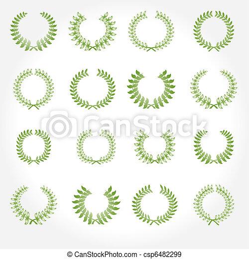 Vector version. Set of laurel wreat - csp6482299