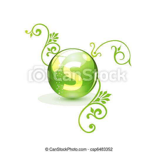 Green alternative medication concept - csp6483352