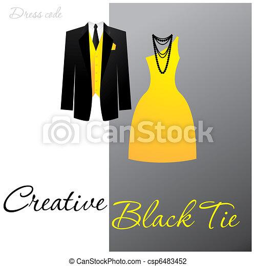 creative-black-tie - csp6483452