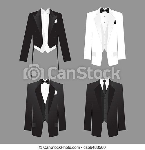 Clipart Vecteur De Men S Dress Code Robe Code Pour Hommes M 226 Le Csp6483560