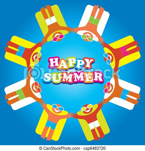 summer-sea-happy-people - csp6483720