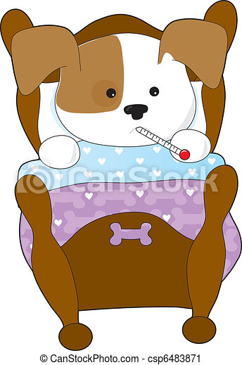 Cute Puppy Sick - csp6483871