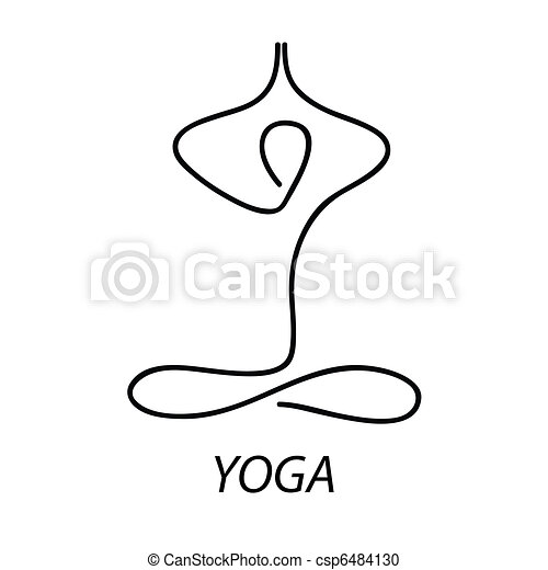 Stock Illustration of yoga - Yoga - sign. Symbol - the lotus ...