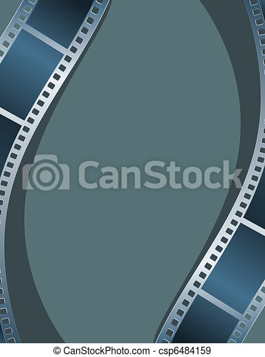 Blank photo, video template - csp6484159