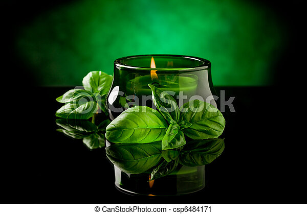 Candle with basil flavour - csp6484171