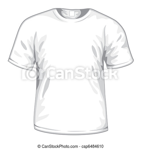 Shirt Vector Template Vector White T-shirt Vector