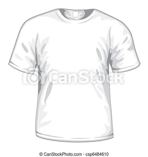 White t-shirt vector - csp6484610