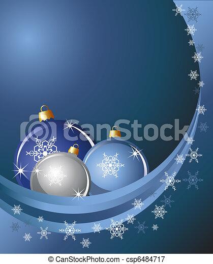 Baubles & snow - csp6484717