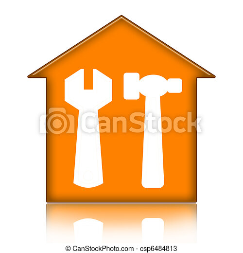 House with tools - csp6484813