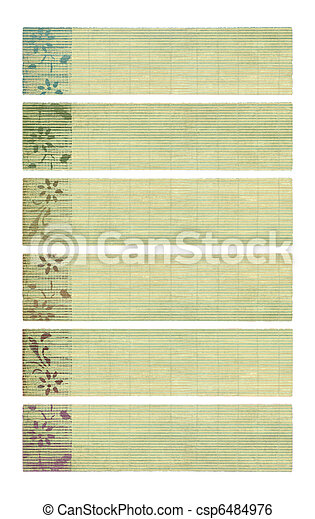 Neutral tones coconut paper banner set  - csp6484976
