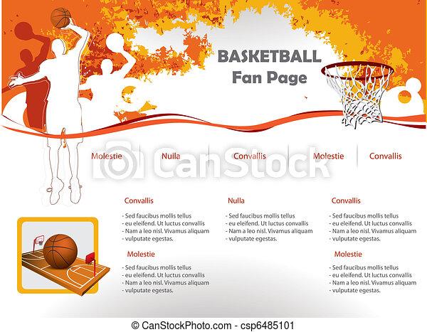 Basketball web site design template - csp6485101