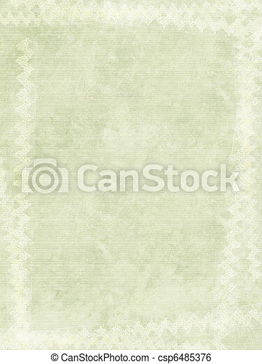 Grunge ribbed paper with white chalk border - csp6485376