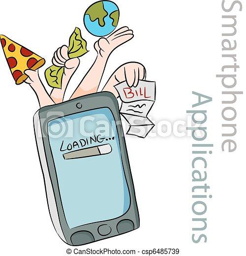 Smart Phone Applications - csp6485739