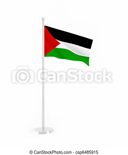 3D flag of Palestine - csp6485915