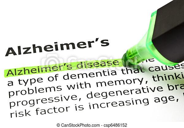 'Alzheimer's disease', under 'Alzheimer's' - csp6486152