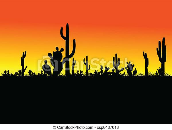 cactus black vector - csp6487018