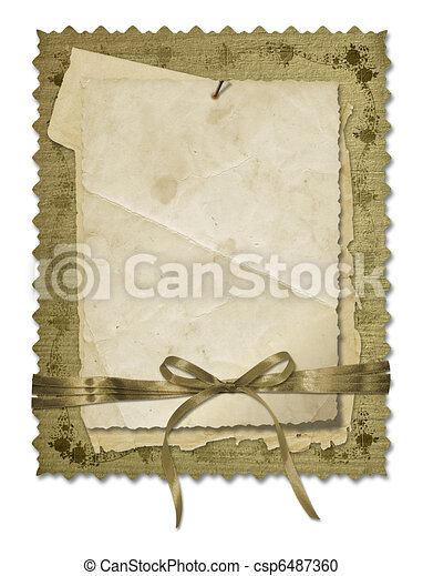 Grunge old papers design in scrapbooking style - csp6487360