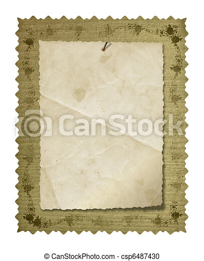 Grunge old papers design in scrapbooking style - csp6487430