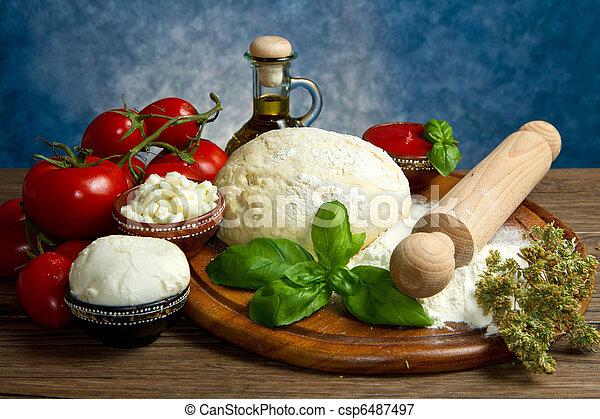 pizza ingredients - csp6487497