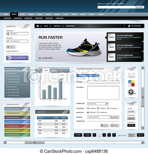 Web Design Website Element Template - csp6488136