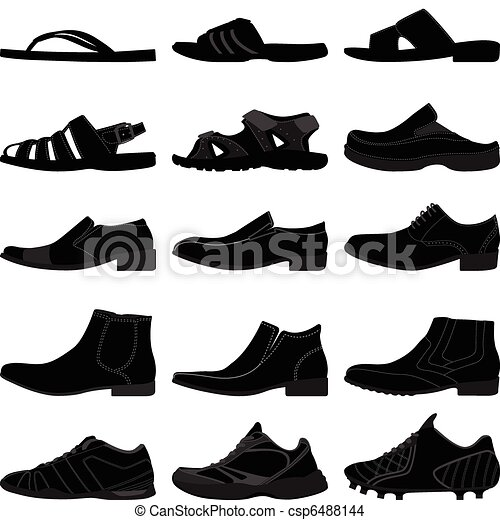 homem, macho, homens, sapatos, calçado - csp6488144