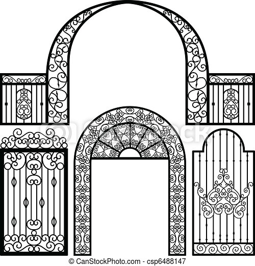 Entrance Gate Door Fence Vintage - csp6488147