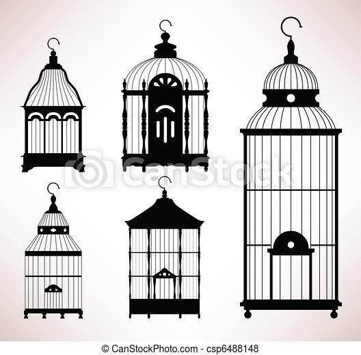 Bird Cage birdcage vintage retro - csp6488148