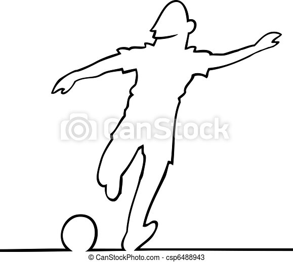 Soccer player kicking the ball - csp6488943