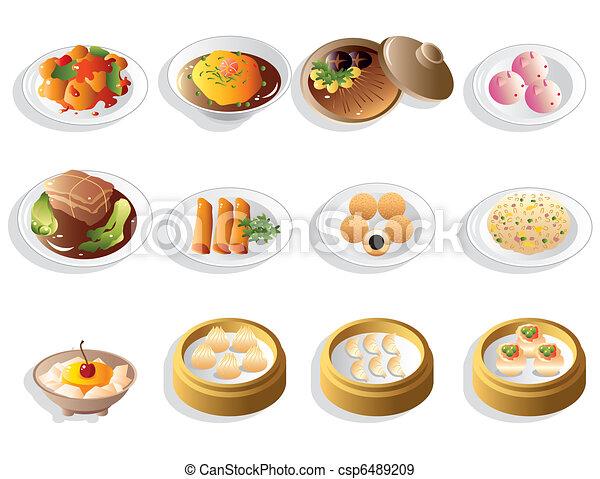 Cartoon Chinese Food Royalty Free Stock Photography - Image: 10575837