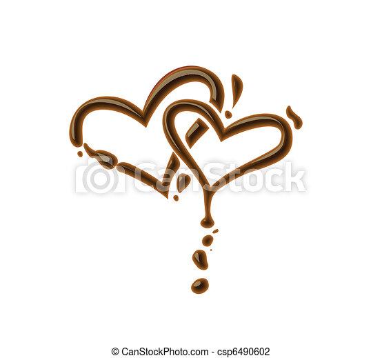 Chocolate heart - csp6490602