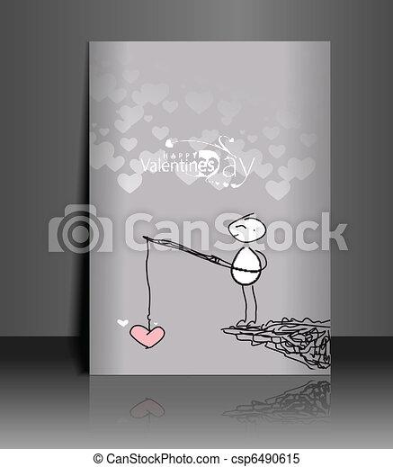 valentine's day greeting card - csp6490615