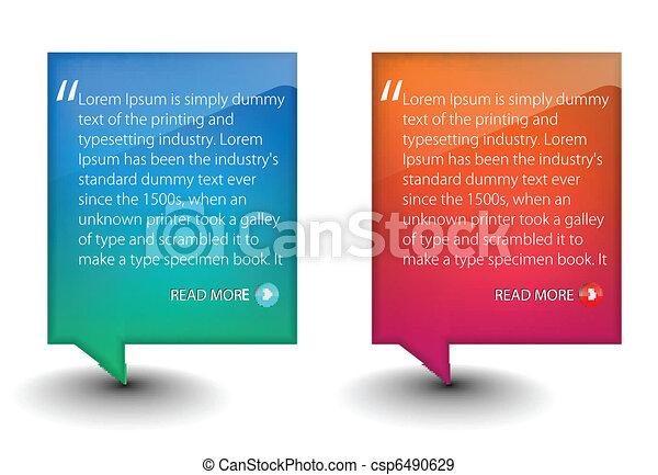 web banner elements  - csp6490629