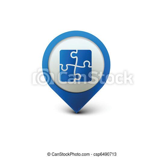 puzzle web icon - csp6490713