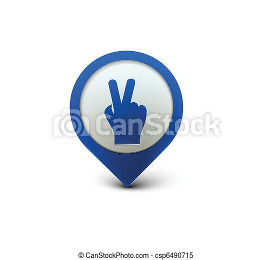 victory  web icon  - csp6490715