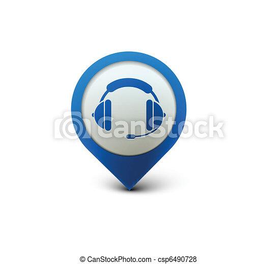 headset web icon - csp6490728