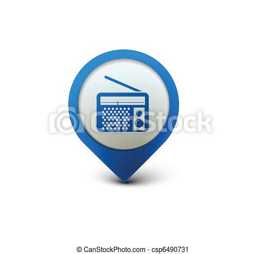 radio web icon - csp6490731