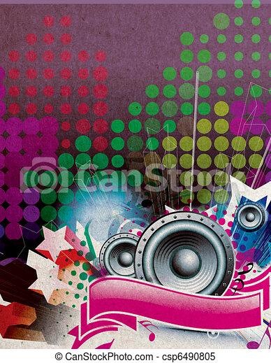 Flyer/poster design - csp6490805