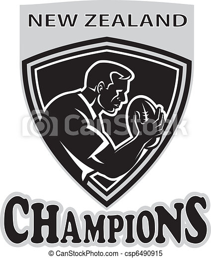 rugby player New Zealand Champions    - csp6490915