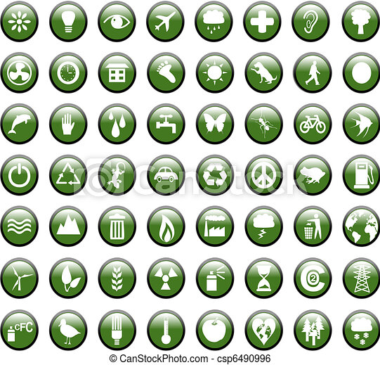 Environmental Green Icons - csp6490996