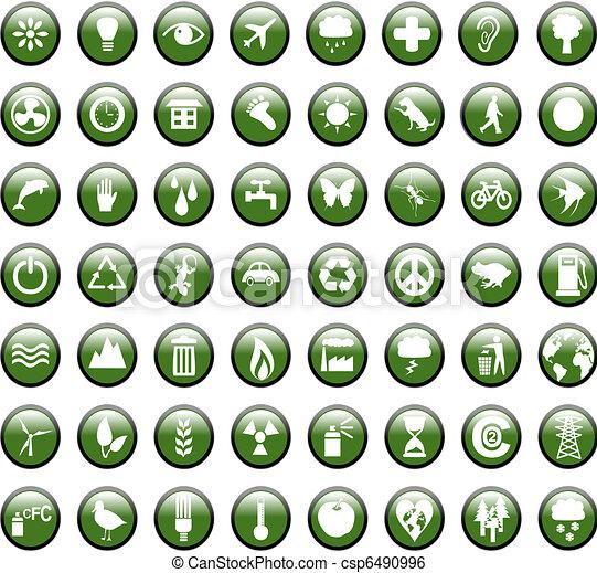 Environmental Green Icons - csp6490996