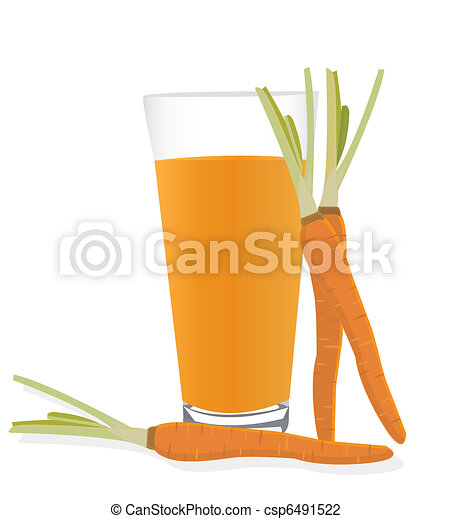 Carrot and a glass of carrot juice - csp6491522