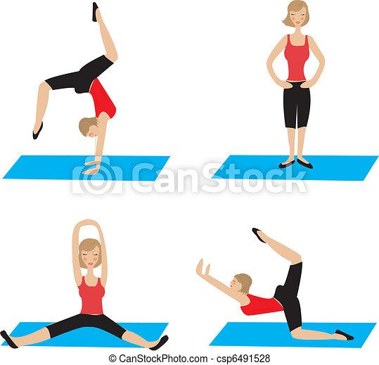 Yoga poses - csp6491528