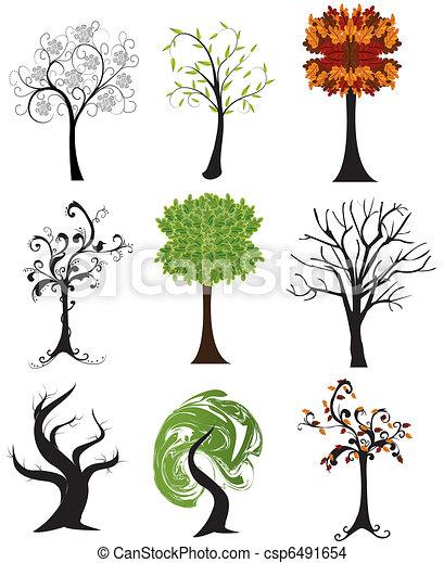 set of abstract seasonal trees - csp6491654