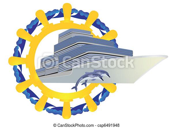 Journey on the seas - csp6491948