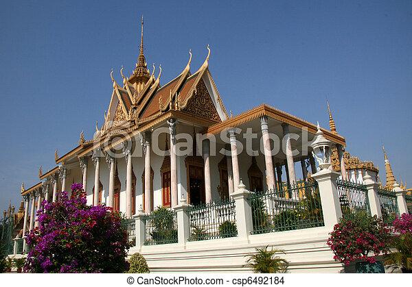 Silver Pagoda, Phnom Penh, Cambodia - csp6492184